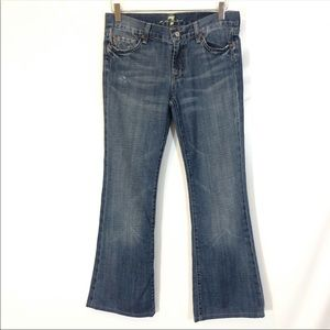 7 For All Mankind Flare Jeans Size 28